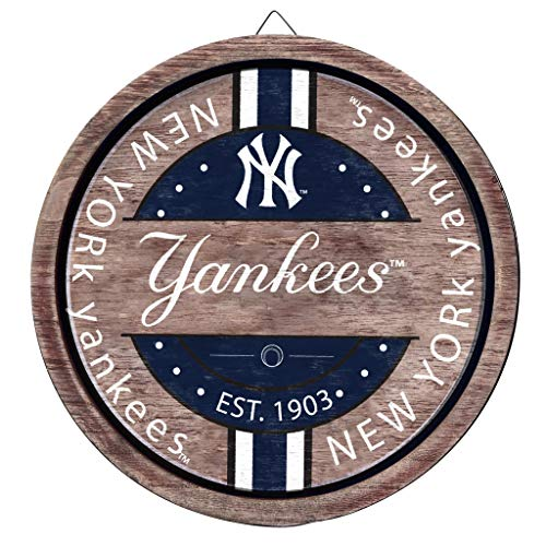 FOCO MLB New York Yankees Unisex Wooden Barrel SIGNWOODEN Barrel Sign, Team Color, OS