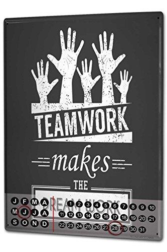 Wandkalender 2019 Jahreskalender Dauerkalender 2020 Kalender 2021 Terminplaner Fotokalender Sprüche Teamwork Metall Magnet