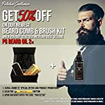 Natural Beard Growth Oil for Men - with Cedarwood & Tea Tree Oil - Easy Beard Dispenser and Pump - Natural Conditioner… 3