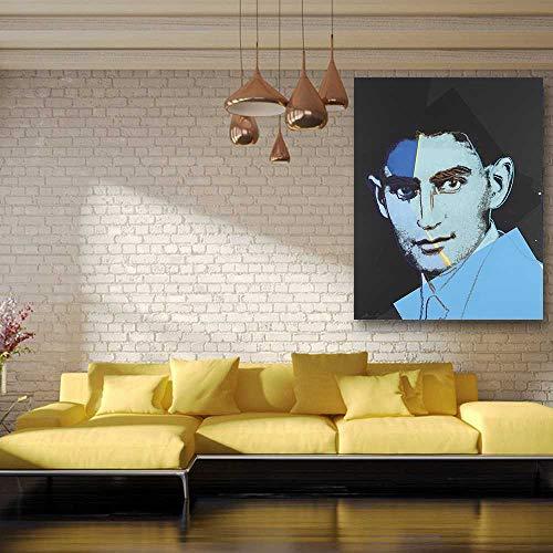 Amokr Andy Warhol Franz Kafka aus Zehn Porträts von Juden Ölgemälde auf Leinwand Wandmalerei Bildposter und Werbung 60x90cm, ohne Rahmen