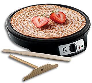 "Chefman 12"" Electric Crepe Maker & Griddle, Precise Temperature Control, Non Stick, Includes Batter Spreader and Spatula (B073DLGMTS) 