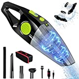 OZOY 9500Pa Handheld Vacuums Cordless,120W Portable Handheld Vacuum Cleaner,2600mAh Rechargeable Battery Two Molder Lightweight Wet Dry Vacuum for Home, Car and Pet (Avocado Green)