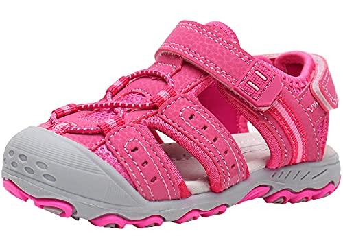 Ahannie Gilrs - Sandalias deportivas al aire libre para niños pequeños, sandalias de playa de verano para niños pequeños, color, talla 23 EU