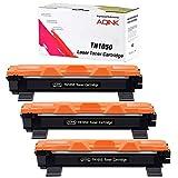 AQINK TN1050 TN-1050 - Cartucho de tóner para Brother HL-1110 DCP-1510 HL-1210W DCP-1610W HL-1112 MFC-1810 HL-1212W MFC-1910W DCP-1612W DCP-1512 (3 unidades), color negro