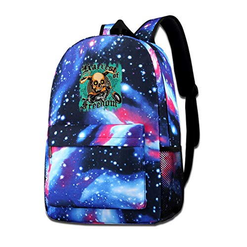 Zxhalkhfd Harvest Of Freedom Travel Backpack College School Business Blue One Size