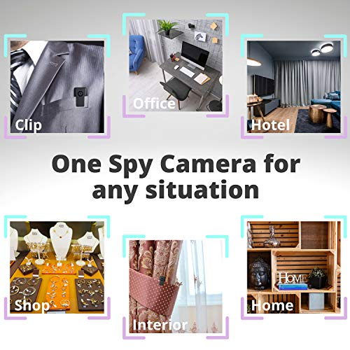Spy Camera Without WiFi – Small Body Hidden Camera – Mini Spy Camera Motion Activated – Secret Nanny Cam – Tiny Recorder HD Video – Portable Stealth Spying Recording Camera Home Security Easy to Use