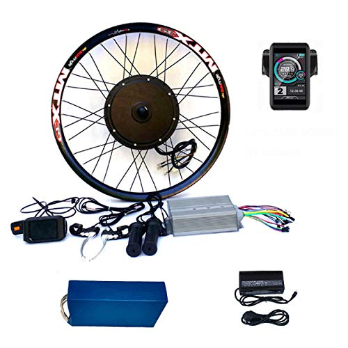 "theebikemotor 3.2"" TFT Display+3000W Electric MTB Bicycle E Bike Bicicleta ELÉCTRICA Kit DE CONVERSIÓN (72V3000W+72V24Ah Panasonic Cell Batería, 26"")"