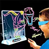 Magic 3D Drawing Board - Light up Tracing Pad - Kids Magic Pad Drawing Board – Education Dinosaur Doodle Glow Pad with 3D Glasses - Gift for Kids/Toddlers Boys & Girls Ages 3 -12 Years Old (Dinosaur)