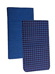 Pappu Mens Poly Cotton Lungis, Set of 2 (Multi Colour)||Assorted Checks or Colors