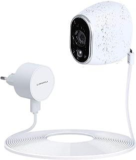 Adaptador de Corriente y Cable Resistentes a la Intemperie para los Accesorios para el Hogar Inteligente de la Cámara de Seguridad Arlo (Reemplazo de la Batería de Litio CR123A Blanco)