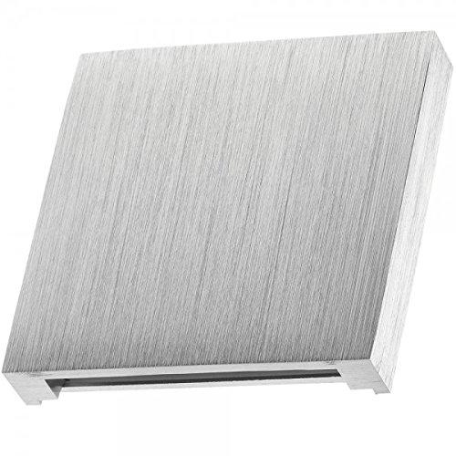 LED Treppenbleuchtung aus Aluminium für Schalterdoseneinbau 68mm - Warmweiß 3000k [Stufenbeleuchtung - Wandbeleuchtung - indirekt]