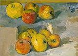 Poster 40 x 30 cm: Äpfel auf einem Tuch von Paul Cézanne