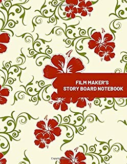 "Film Maker's Story Board Notebook: Large Film Making Journal Logbook Planner Notepad Clapperboard for Creative Storytelling Story Drawing. Gifts for Movie Makers, Script Writers, Directors, Animators & Advertisers. Paperback Size 8.5""X11"" With 120 Pages (Film Writing & Sketching Log)"