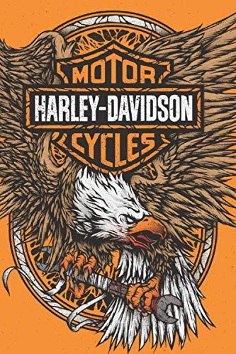 Notebook Harley Davidson Orange Collector: journal notebooks for men journals for writing lined paper