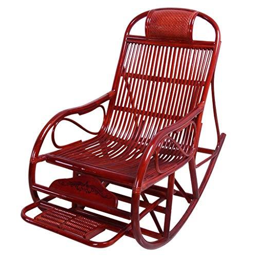 CHQYY Chaise - Rocking repose-pieds chaise réglable salon chaise haute design arrière for balcon mobilier de salon de jardin (Couleur : Marron)