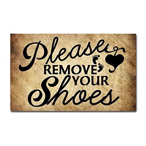 SOTUVO Felpudo Entrada Alfombrilla de Entrada con Estampado Divertido, Alfombrilla para el Suelo, quítate los Zapatos, Felpudo Antideslizante, Lavable a máquina, no tejido-20x28 Inch