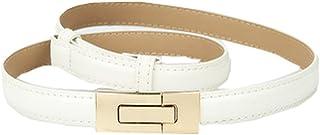 Longer Fashion New Decorative Wild Buckle Dress Small Belt,White