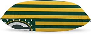 DVJEFB Stripe Star American Flag Football Team Bedding Pillow Covers Rectangular Pillow Cases for Home Couch Sofa Bedding Decorative - 20x36 Inches Green Bay Packers