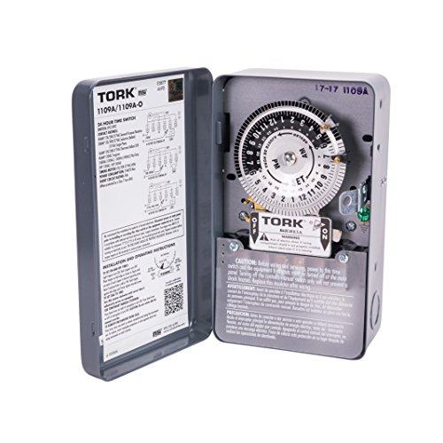 NSi Industries TORK 1109A Indoor 40-Amp Multi-Volt Mechanical Lighting and Appliance Timer - 24-Hour...