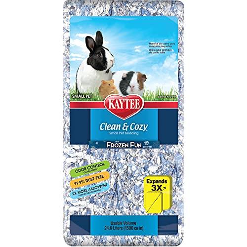 Kaytee Superpet | Animales pequeños Clean & Cozy/Roedor/Cama para hámster | Frozen Fun| 99,9% Libre de Suciedad| Control de olores | 24,6 litros