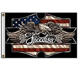 Hot Leathers Freedom Eagle 3'x5' Flag FGA1065