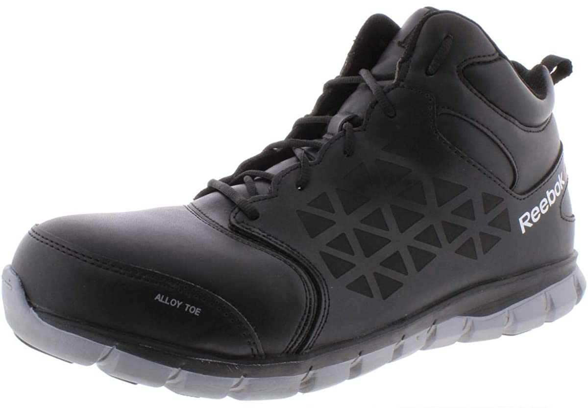Reebok Men's Sublite Cushion Work Safety Toe Athletic Mid Cut Industrial Boot