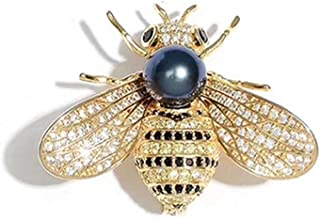 Bling Bling Pendant/Brooch Queen Bee Rhinestone Brooch Fashion Necklace Golden or Silvery