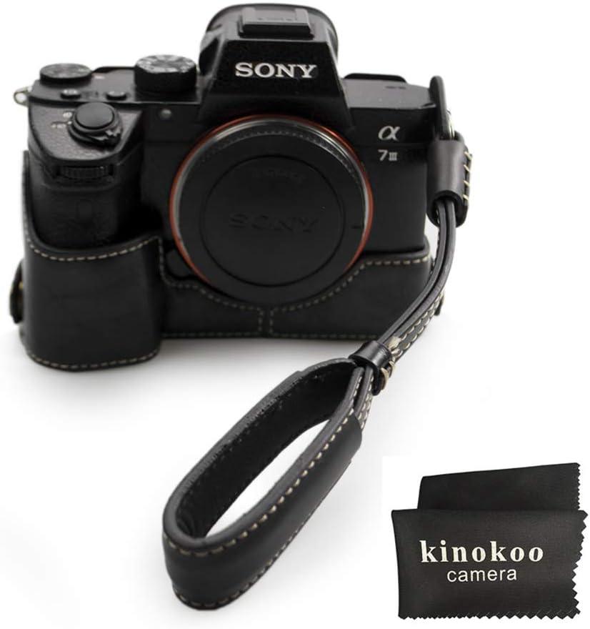 Schwarz-b A7R3 A7 III kinokoo Kameratasche f/ür Sony Alpha A9