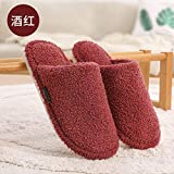 Warm Slippers,Cotton Slippers Female Autumn and Winter Home Household Indoor Non-Slip Soft Bottom Couple Warm...