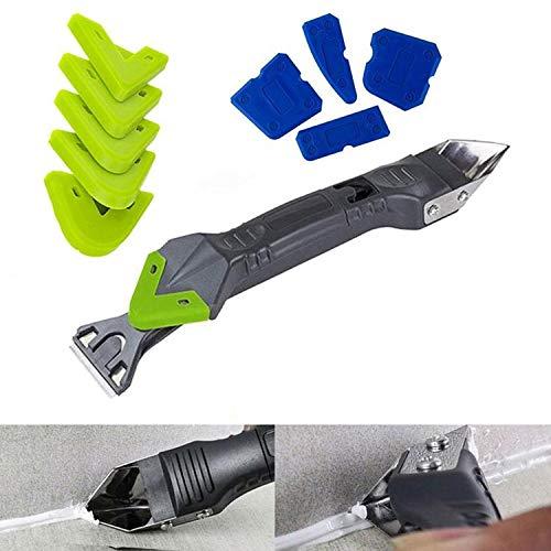 5-in-1-Dichtungswerkzeugsatz, 10-teiliges Silikon-Dichtungswerkzeugset, Dichtungsentferner und Dichtmittelschaber für Küche, Bad, Fenster und Spülenverbindung