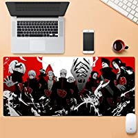 ゲーミングマウスパッド、大きなマウスパッド ラップトップコンピューター、デスクカバーコンピューターのためのNa-Rutoの大型カスタムマウスパッドパッドパッドのパッドは、キーボードステッチエッジオフィス理想マウスマット--アニメ_900*400*3