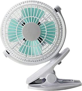 zhppac Ventilador Bebe Ventilador con Pinza Ventilador de Cochecito con Clip Batería Clip Enchufe el Ventilador de Escritorio Pequeño Clip en el Ventilador Gray