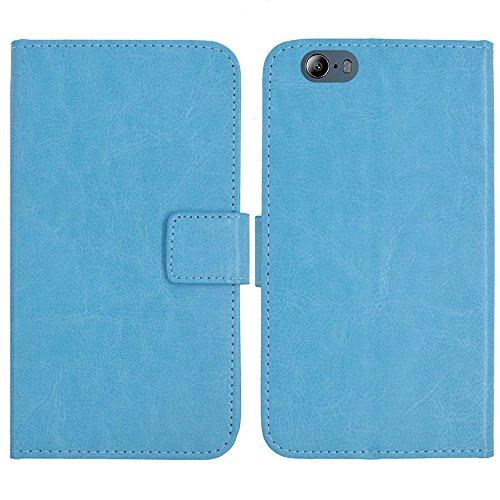 TienJueShi Blau Flip Book-Style Brief Leder Tasche Schutz Hulle Handy Hülle Abdeckung Fall Wallet Cover Etui Skin Fur Maze Blade 4G Phablet 5.5 inch