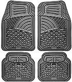 Motorup America 4pc Set Carpet Auto Floor Mats - Fits Select Vehicles Car Truck Van SUV, Charcoal Gray