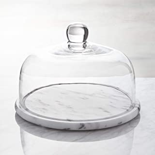 "LAMAC CRAFTS 10"" White Marble Cake Stand/Serving Dish/Serving stand/Cheese board/Serving Platter"