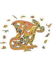 98-323 Pièces Puzzle en Bois (Lion MystéRieux), Meilleur Cadeau Pour Adultes et Enfants - Puzzles Animaux Colorés - Pièces de Puzzle de Forme Unique - Idéal pour la Collection de Jeux en Famille