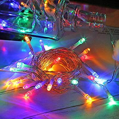 Runostrich LED String Lights, 6m 40 LED 2 Modes Fairy String Lights for Indoor Outdoor Wedding Christmas Party Bedroom Patio Garden Decorations (Colorful)
