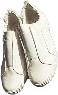 [JUIN] ホワイト ブラック ネイビー レッド メンズ 24.5cm~27cm キャンバスシューズ 白 黒 通勤 通学 ローカット 靴 軽量 靴 キャンバス カジュアルシューズ スリッポン