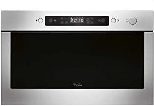 Whirlpool AMW 439/IX Integrado 22L 750W Negro, Acero inoxidable - Microondas (Integrado, 22 L, 750 W, Botones, Negro, Acero inoxidable, 700 W)