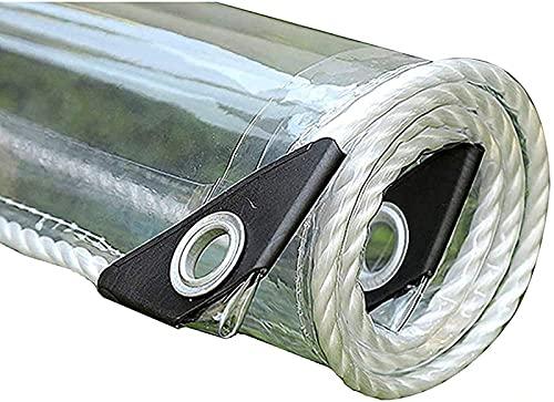 Lona Impermeable, PVC Lonas Impermeables Exterior con Ojales, Cubierta de Piscina, Lonas Multiusos para jardín/Muebles/Exteriores/Camping,A_2.3x2.5m/7.5x8.2ft