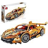Onenineten Piezas de construcción de coche para McLaren P1, 1/14, técnica, modelo deportivo, pieza de coleccionista, 1258 piezas, juguete de construcción compatible con Lego Technic