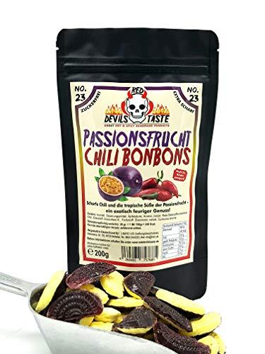 Extra scharfe Chili Passionsfrucht Bonbons - zuckerfrei - 200g - Hotskala: 7