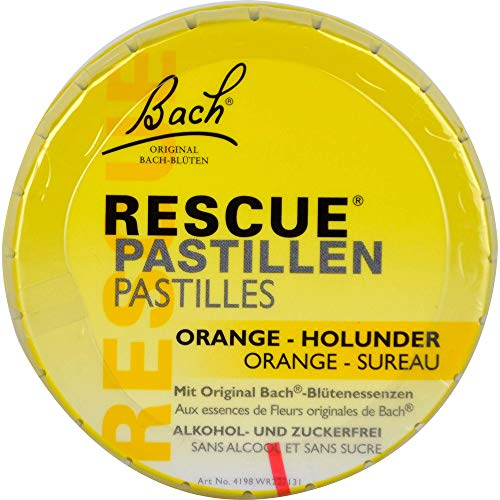 Bach Original Bach-Blüten RESCUE Pastillen Orange-Holunder, 50 ml Solución