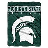 The Northwest Company Michigan State Spartans 'Basic' Raschel Throw Blanket, 60' x 80' , Green