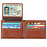 Lavemi RFID Blocking Cowhide Leather Bifold Wallet for Men with 2 ID Windows