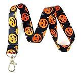 Halloween Pumpkins Print Lanyard Key Chain Id Badge Holder