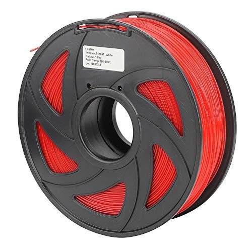 3D Printer Filament, 1.75mm Diameter 35.3oz PLA Filament Bundle Long Red Printing Material Consumables Accuracy +/- 0.05 mm Spool for Most Printer