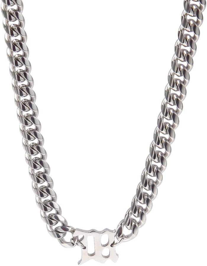 New 8mm Letter Link Shipping included Chain Women Max 78% OFF Necklace Stainless Men Clavicle