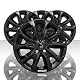 Auto Reflections Set of 4 17' 5 V Spoke Wheel Skins for Chevy Equinox L/LS/LT 18-19 - Gloss Black
