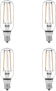 HERO-LED T8-DS-2W-WW27 Dimmable T8 E12 2W Candelabra Style LED Vintage Antique Filament Bulb, 25W Equivalent, Warm White 2700K, 4-Pack